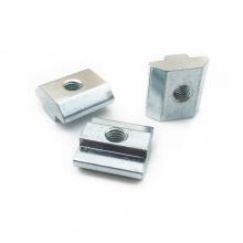 Carbon steel zinc plain  t sliding slot nut T-nut for 4040 3030 4510 Aluminum profile  T Slot Nut M6 M8