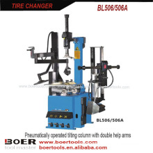 Tire Changer Pneumatically operated tilting column with double help arms