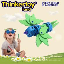 Brinquedos temáticos do pássaro da construção da criança do vintage