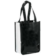 La bolsa de asas no tejida laminada del comprador para el uso de la promoción y del regalo de las compras