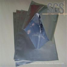 Bolso de empaquetado sellado de 3 lados del papel de aluminio con la cremallera
