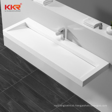 new products bathroom solid surface wall hung hand wash basin for restaurant