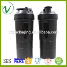 PP botella plástica del joyshaker del agua redonda del diseño del OEM con el grado alimenticio