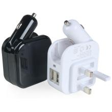 Portable UK Plug Wall Charger Adapter Smart Car Charger