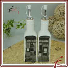 Bouteille en céramique d'huile d'olive