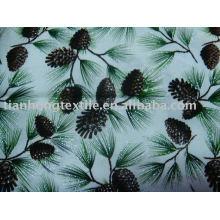 100% impreso estampado de flores de tela de algodón liso