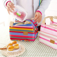 Fashion Thermal Insulation Striped Lunch Bag (54048)