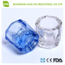 Dental Glass Dappen Plato / dental Crystal Cup / dentadura Material