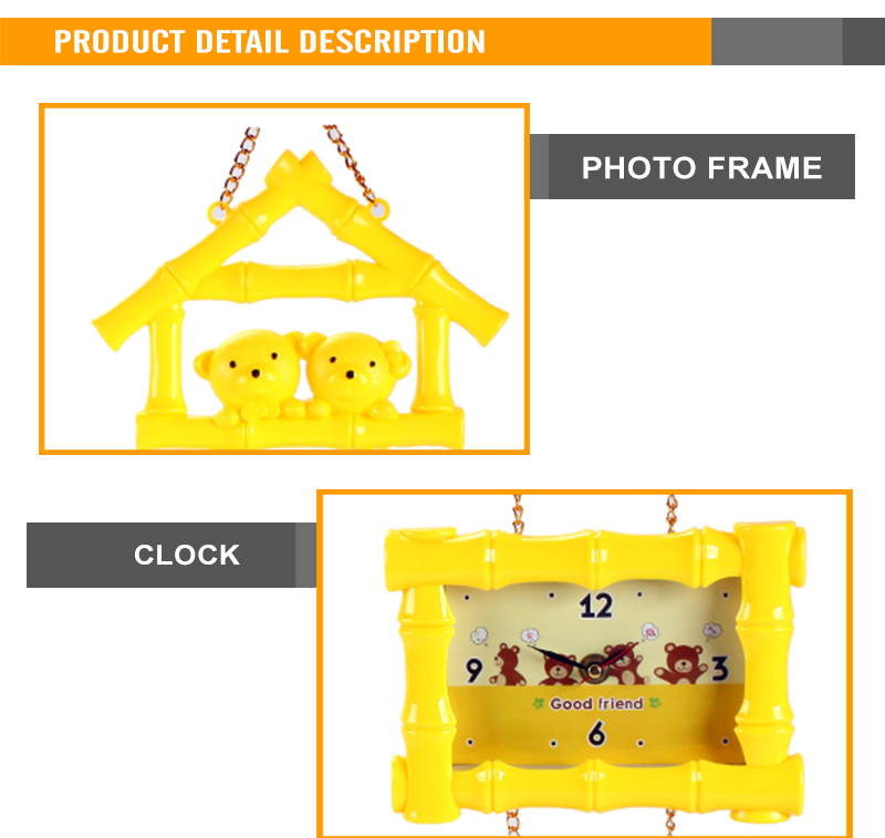 Colorful Plastic Photo Frame Wall Clock