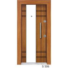 Porte vitrée turquoise de haute qualité avec placage et conception laquée