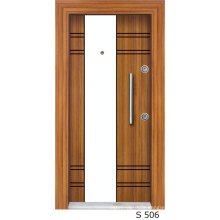 High Quality Turkish Manufactured Stell Door with Veneer and Lacquered Design