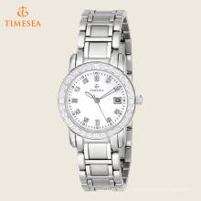 Часы женские из нержавеющей стали с бриллиантами с акцентом 71192