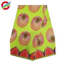 La cera verdadera africana 100% del poliéster imprime la tela usada para la venta