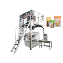 Máquina envasadora de gránulos de bolsas prefabricadas rotativas