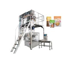 Máquina rotativa de embalagem de grânulos para sacos pré-fabricados