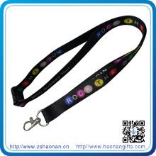 Cordón con gancho de metal y hebilla ajustable para la tarjeta de identificación sin cantidad mínima