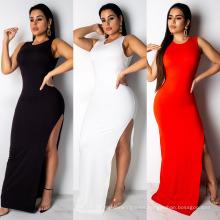 Superstarer Most Popular Backless Evening High Split Dress Night Wear Sexy Maxi Long Fashion Dresses 2021 Sexy Women