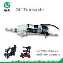 DC traction motor and axle for electric mini mobility scooter