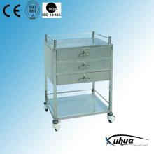 Chariot de médecine médicale pour hôpitaux en acier inoxydable (Q-16)