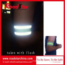 100 % Polyester Haken und Ösen Verschluss reflektierende Armband