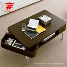 Neuer Mitteltisch mit Klappschublade