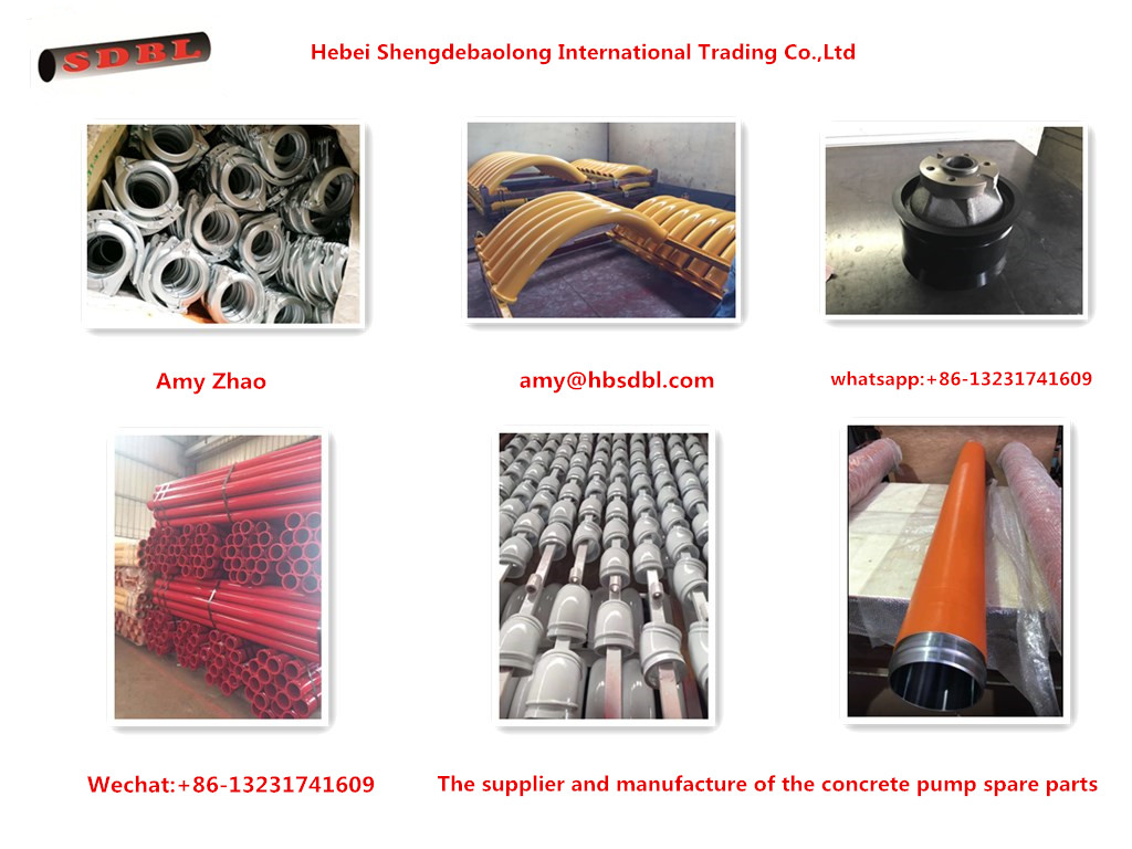 concrete pump pipe.elbow, clamp coupling, delivery cylinder and rubber piston