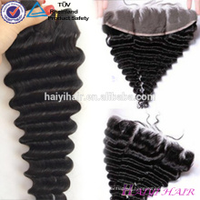 13*6 Malaysian Virgin Hair Deep Wave Lace Frontal Piece