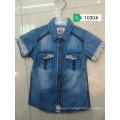 Guangzhou wholesales Fashion kids jean blouse outwear jacket for children new design denim jeans shirt for boys