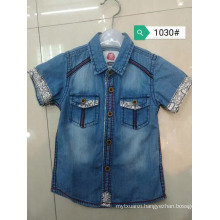 Summer baby Jeans Blouses boys kids short sleeve denim jacket children shirts Cool style
