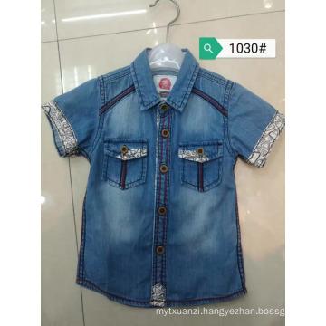 Summer baby Jeans Blouses boys kids short sleeve denim jacket children shirts Cool style