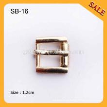 SB16 níquel livre cor de ouro fivelas de arame de metal de rolo de rolo ajustado Strap ajustar