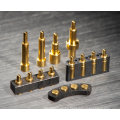 Customized Double Row 15pin Spring Loaded Connectors Pogo Pin with Gold Plating