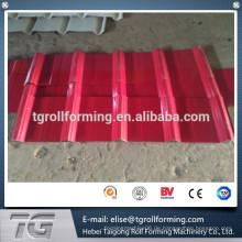 Farbe Stahl oder verzinkte Stahlspule besten Service 840/900 Doppelschicht Walze Formmaschine