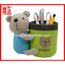 wholesale bear pen holder plush magnetic pen holder