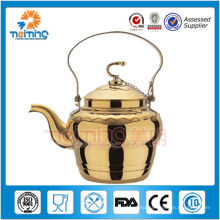 2.0L Stainless steel gold plating Tea pot