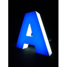 2016 Popular LED Front Lit Channel Letter Signs, Decorative Metal LED Alphabet Letters with Waterproof LED Strip