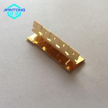 Resorte de acero inoxidable personalizado que estampa contactos chapados en oro.