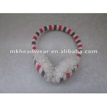 Модные трикотажные теплые наушники