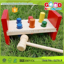 Stocked EN71 Approved Wooden Hammer Bench Cheap Kids Toys