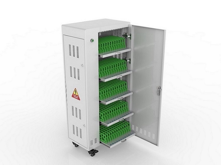 ipad charging locker storage and charging cart