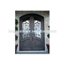 Puertas de entrada principal de hierro, Puertas de hierro forjado de doble entrada, Puerta de entrada de madera forjado de hierro