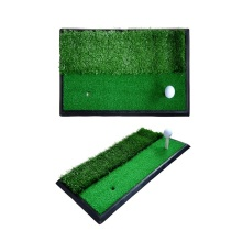 Dual-Turf Golf Hitting Mat with Heavy Rubber Base