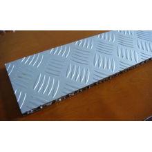 Panneaux en sandwich en aluminium antidérapants pour étage