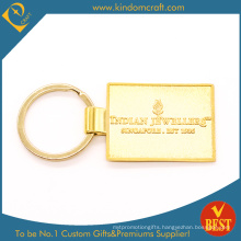 Custom Gold Finished Metal Keychain