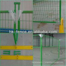 Panneaux provisoires enduits de PVC de 6 'X 10' résistants enduits avec la base et le haut connecteur