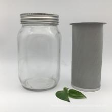 Kaltes gebrühtes Kaffeefilterrohr des 150 Mikron Edelstahls für Maurerglas