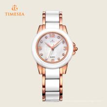 Reloj de pulsera de cuarzo de cerámica blanco 71123