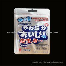 Sacs à fermeture à glissière pour emballer les bonbons mous