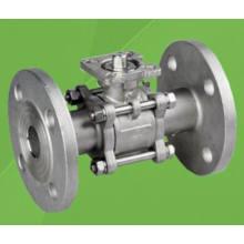 Válvula de bola flotante bridada 3PC 1000wog con el cojín de montaje de ISO / 5210/5211 (Q41F)