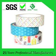 Ruban adhésif adapté aux besoins du client de papier lavé adapté aux besoins du client en gros pour la décoration